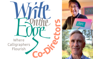 Write on the Edge logo and Debra and Rick the co-directors